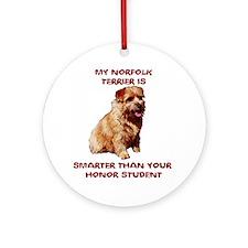 smart Norfolk Ornament (Round)