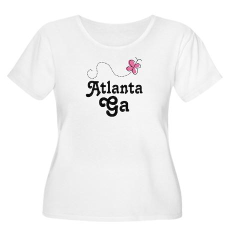 Pretty Atlanta Georgia Women's Plus Size Scoop Nec