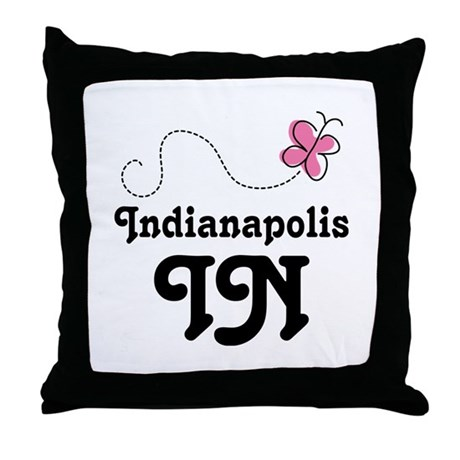 Pretty Indianapolis IN Throw Pillow