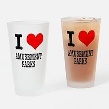 I Heart (Love) Amusement Park Pint Glass