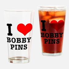 I Heart (Love) Bobby Pins Pint Glass