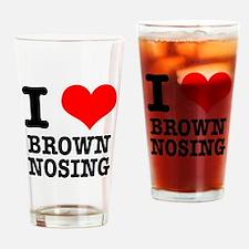 I Heart (Love) Brown Nosing Pint Glass