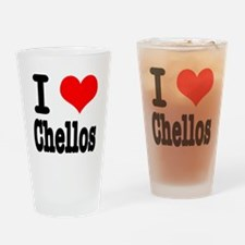 I Heart (Love) Chellos Pint Glass
