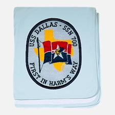 USS DALLAS baby blanket