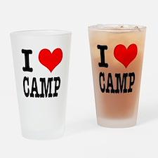 I Heart (Love) Camp Pint Glass