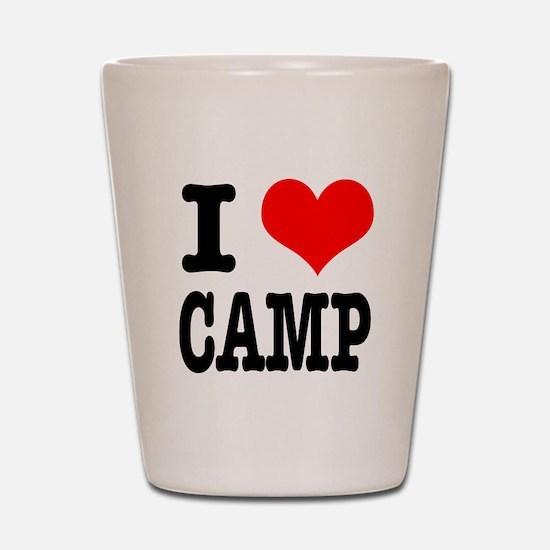 I Heart (Love) Camp Shot Glass