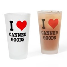 I Heart (Love) Canned Goods Pint Glass
