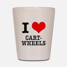 I Heart (Love) Cartwheels Shot Glass