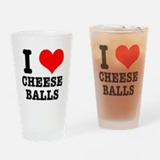 I Heart (Love) Cheese Balls Pint Glass