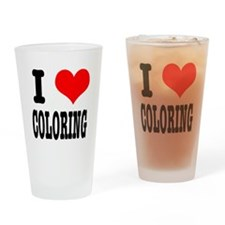 I Heart (Love) Coloring Pint Glass