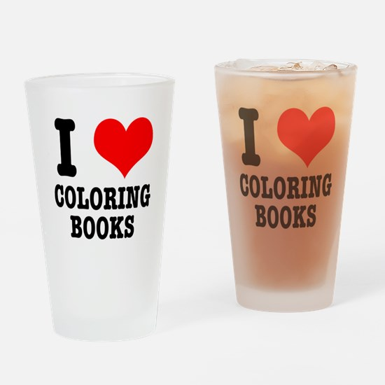 I (Heart) Love Coloring Books Pint Glass