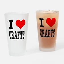 I Heart (Love) Crafts Pint Glass