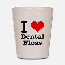 I Heart (Love) Dental Floss Shot Glass