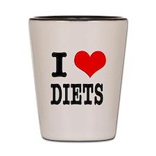 I Heart (Love) Diets Shot Glass