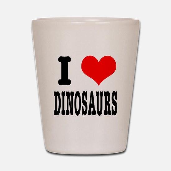 I Heart (Love) Dinosaurs Shot Glass