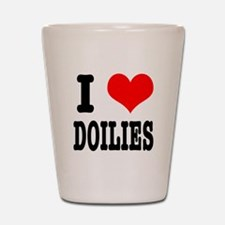 I Heart (Love) Doilies Shot Glass