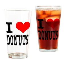 I Heart (Love) Donuts Pint Glass