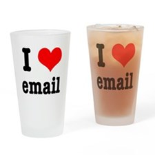 I Heart (Love) Email Pint Glass