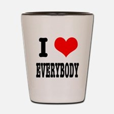 I Heart (Love) Everybody Shot Glass