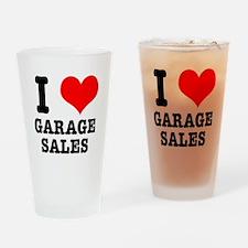 I Heart (Love) Garage Sales Pint Glass