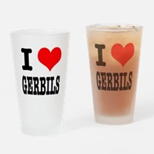 I Heart (Love) Gerbils Pint Glass