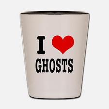I Heart (Love) Ghosts Shot Glass
