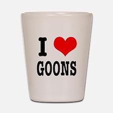 I Heart (Love) Goons Shot Glass