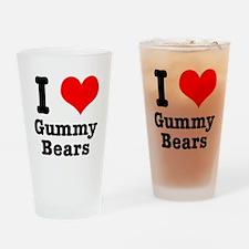 I Heart (Love) Gummy Bears Pint Glass