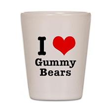 I Heart (Love) Gummy Bears Shot Glass