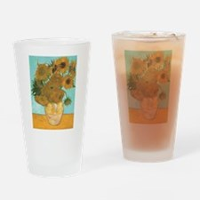 Van Gogh Vase with Sunflowers Drinking Glass