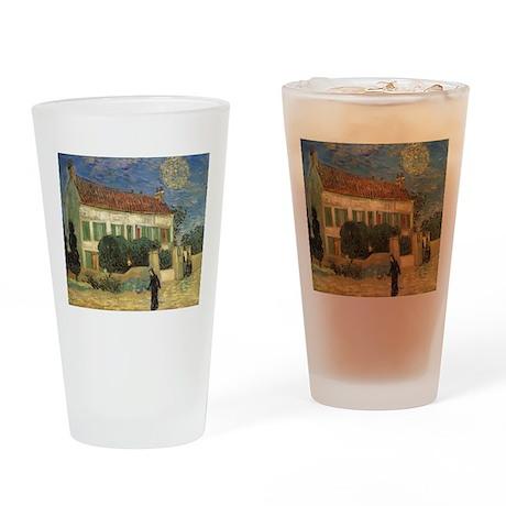 Van Gogh White House at Night Drinking Glass