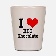 I Heart (Love) Hot Chocolate Shot Glass