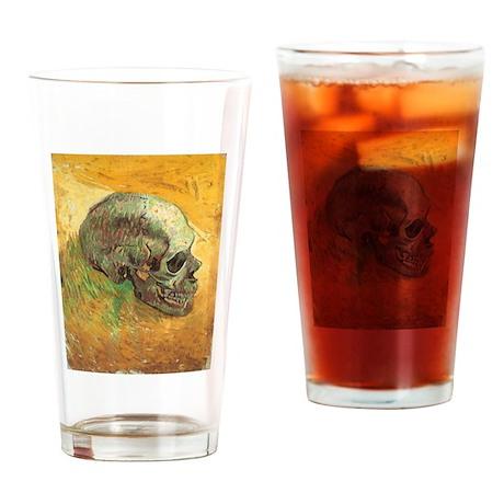 Van Gogh Skull Still Life Drinking Glass
