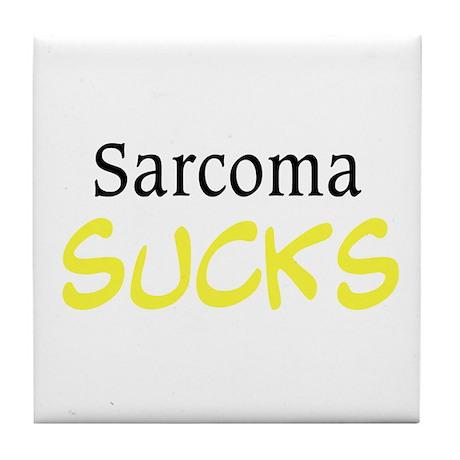 Sarcoma Sucks Tile Coaster