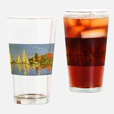 Claude Monet Regatta at Argenteuil Drinking Glass