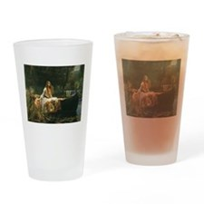 Lady of Shalott by JW Waterhouse Drinking Glass