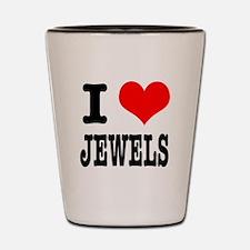 I Heart (Love) Jewels Shot Glass