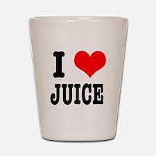 I Heart (Love) Juice Shot Glass