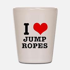 I Heart (Love) Jump Ropes Shot Glass