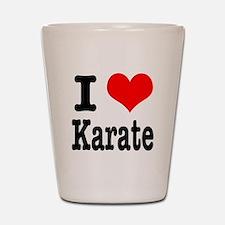 I Heart (Love) Karate Shot Glass