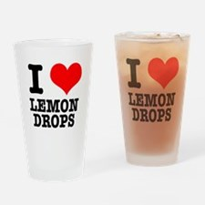 I Heart (Love) Lemon Drops Pint Glass
