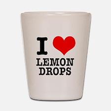 I Heart (Love) Lemon Drops Shot Glass