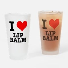 I Heart (Love) Lip Balm Pint Glass