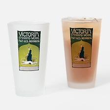 Vintage Art Nouveau Poster Drinking Glass