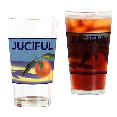 Vintage Fruit Crate Label Drinking Glass