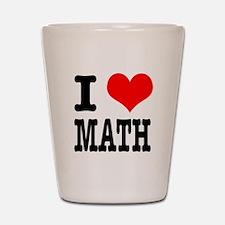 I Heart (Love) Math Shot Glass