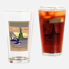 Vintage Travel Poster New York City Drinking Glass