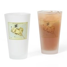 Vintage Celestial Zodiac, Aries Drinking Glass