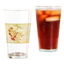 Vintage Celestial Zodiac, Gemini Drinking Glass