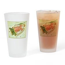 Vintage Celestial Zodiac, Virgo Drinking Glass